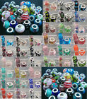10pcs Mix Silver Core Lampwork Murano Glass Beads Charms Fit Bracelets DIY KJ