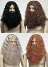 Caveman Wig, Beard & Moustache Stoneage Flintstones Hippy Jesus Fancy Dress