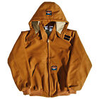 Rasco FR Brown Duck Quilted Hooded Jacket BJFQ2206