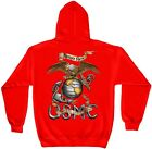 Erazor Bits MM107RSW Hooded Sweat Shirt eagle usmc Red