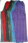 Gringo FAIR TRADE stripe NEPALESE cotton CARGO combat TROUSERS hippy XL BNWT