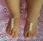 BABY  Barefoot Sandals IVORY PRINCESS beach bridal Christening Naming Day GIRLS