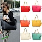 Hot Women Designer Large Leather Style Tote Shoulder Bag Ladies Handbag Purse