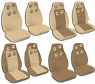 Brown and Tan Paw Print Combonations Jeep Wrangler Seat Covers 2002-2015