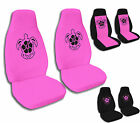 1987 to 2001 Jeep Wrangler Hibiscus Turtle Jeep Seat Covers Black and Hot Pink