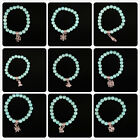 new fashion exquisite turquoise diy elasticity bangle charm jewelry bracelet