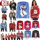 Mens Womens Unisex Knitted Pom Pom Santa Snowman Olaf Christmas Sweater Jumper