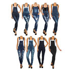 Bonage Fashion Designer Women's Denim Blue Jean Overall Jumpers