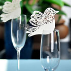Vary Style Ivory Glass Place Cards Laser Cut on Luxury Pearlescent Wedding Party