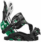 Flow Fuse GT Hybrid Binding New 2015 Black Green Rear Entry Snowboard Bindings