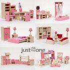 Chic Wooden Furniture Dolls House Miniature  Room Development Children Toys Set