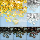 20g 150-160Pcs Filigree Iron Flower Bead Caps 8x8mm For Jewelry Making