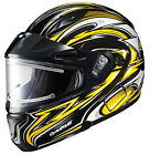HJC CL-Max 2 Atomic Yellow Modular Electric Snowmobile Helmets