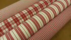 Woven Gingham & Ticking Cotton Designer Upholstery Curtain Quilting Craft Fabric