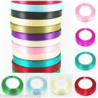 22 METRE SATIN RIBBON 10mm SOLD ON ROLL Giftwrap Christmas Sewing Crafts