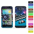 For LG Optimus G Pro E980 Galactic Twin Owl Hybrid Rugged Impact Case Cover