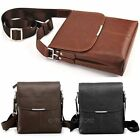 Mens Business PU Leather Briefcase Crossbody Messenger Shoulder Handbag Satchel