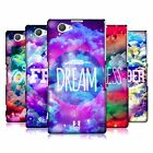 HEAD CASE CHROMATIC CLOUDS SNAP-ON BACK COVER FOR SONY XPERIA Z1 COMPACT D5503