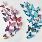 12pcs 3D Butterfly Art Decal Home Decor 18 Colours PVC Butterflies Wall Stickers