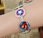 fashion unique design super hero time gem charm jewelry silver bracelet