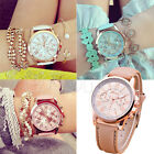 Faux Leather Geneva Roman Numerals Chic Stylish Quartz Analog Women Wrist Watch