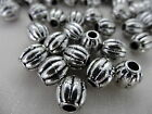9x9mm 30/60 grams ANTIQUE SILVER COLOR ACRYLIC BARREL LOOSE BEADS AB02472