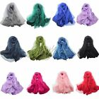 Double layer Long Soft Silk Women Scarf Shawl Fashion Scarves Wedding Favor New