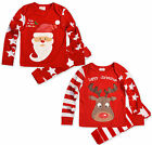 Babies Christmas Pyjamas Baby Boys Girls Santa Rudolph Sleepwear Set 6-24 months