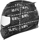 Icon Airframe Statistic Full Face Motorcycle Helmet All Sizes