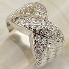 Size 5.5 6 7.5 8.5 Classy Hot White CZ Gems Jewelry Gold Filled Woman Ring K2068