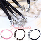 """5x Lobster Clasp Cord Rope Chain Necklace Jewelry Findings DIY Gift 18""""L Colors"""