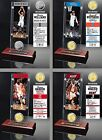 Choose Your NBA Player Ticket & Minted Medallion Coin Desktop Acrylic Display