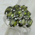 Size6 7 8 9 Great Green Multi Peridot Jewelry Gold Filled Woman Gift Ring K969