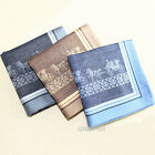 1pc Men Women 100% Cotton Hanky Paisley Accessories Handkerchief Pocket Square
