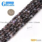 """6mm Round Faceted Fire Agate Gemstone Loose Beads Strand 15""""Jewelry Making Beads"""