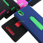 For ZTE ZMax Z970 T-Mobile Rugged Impact Hybrid Protective Hard Case Cover Stand