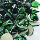 GENUINE Swarovski Dark Moss Green (260) Crystal (No hotfix) Flat back Rhinestone