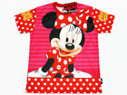 Minnie Mouse Girl Polyester Pink T-Shirt NWT Disney Size 4-10 age 3-10