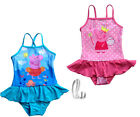 Girls Kids Peppa Pig Swimwear One Piece Swimsuit Swimdress AU SELLER gs010