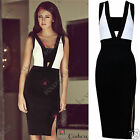 Womens Ladies Formal Cocktail Evening Prom White Black Sexy Split Party Dress