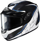 HJC CS-R2 Full Face Snowmobile Helmet with Dual Lens Injector Blue Graphics