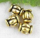 wholesale 92/310Pcs Gold Plated Spacer Beads 6x5mm (Lead-Free)
