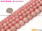"Natural Round Pink Opal Gemstone Jewelry Making Loose Beads Strand 15""Size Pick"
