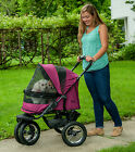 Pet Gear *NEW* NO-ZIP Double Stroller with Plush Pad and Weather Cover