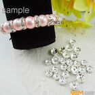 Silver Rondelle Spacer Czech Rhinestone Crystal Beads100 Pcs Size Pick