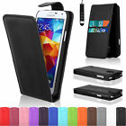 Wallet Flip Leather Case Cover For Samsung Galaxy S5 I9600 + Screen Protector