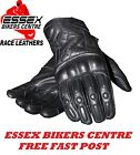 RST Retro Cruiser Harley BSA Cafe Racer Motorcycle Leather Gloves Black New
