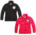 Girls Hello Kitty Snuggle Zip Fleece Winter Jacket Pink Black New Age 4-10 Years