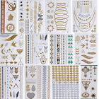 chic Temporary Metallic Tattoo Gold Silver Black Flash Tattoos Flash Inspired