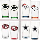 Choose NFL Team 2PC Color Tinted Base Pint Ale Beer Glass Set by Great American
